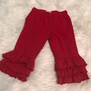 Other - Red ruffle butt pants
